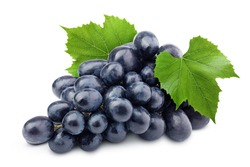 purple grape, isolated on white background, clipping path, full depth of field