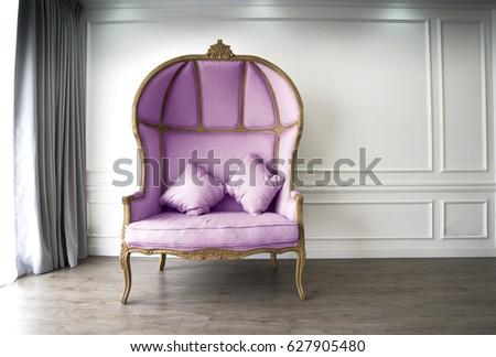 purple half dome sofa