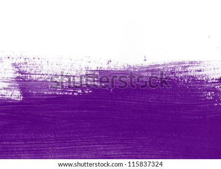 Purple hand painted brush stroke background