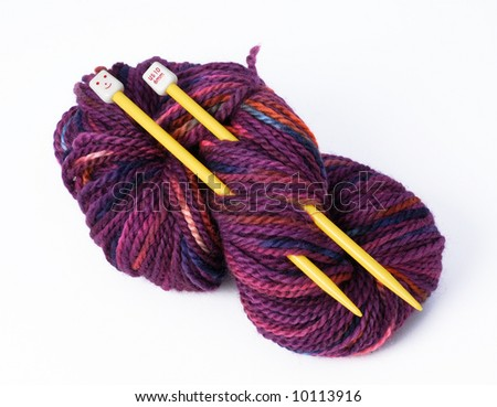 Purple hank of wool