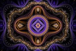 Purple Julian Fractal Background