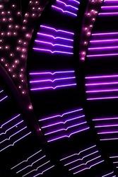 Purple Las Vegas Casino Neon Lights Signage Background