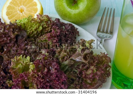 Салат фиолетового цвета