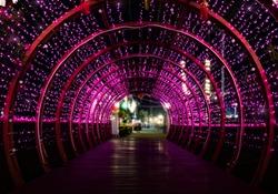 Purple light tunnel.The backdrop of purple light tunnel.