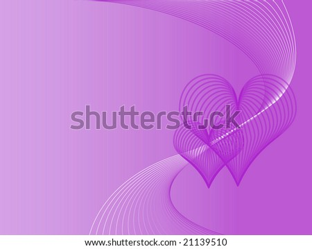 purple love heart background. stock photo : Purple love