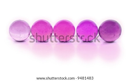 Purple Marbles in a Row