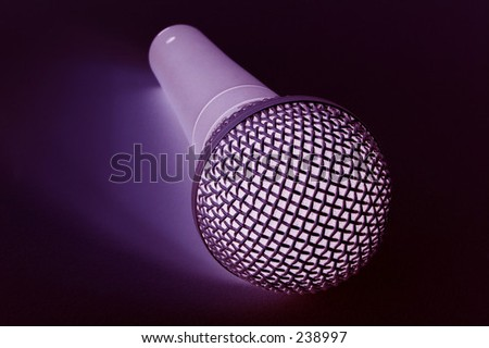 purple microphone