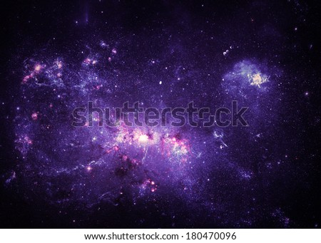 Purple Nebulae - Elements of this Image Furnished by NASA