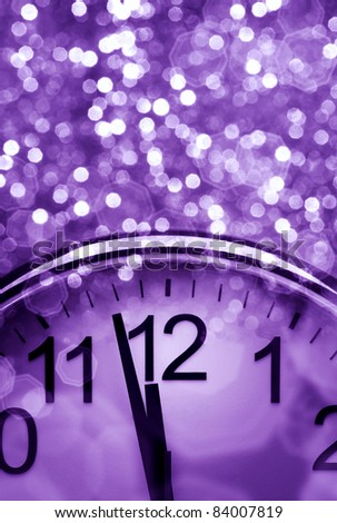 Purple New Year's abstract background - stock photo