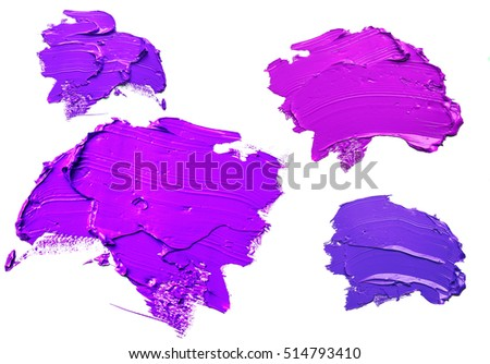 purple oil paint spot isolated on white background #514793410