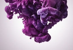 Purple paint splash. Abstract background