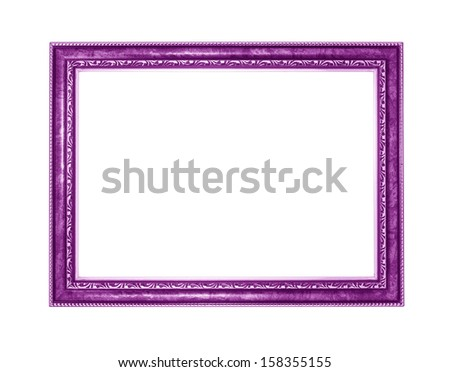 purple picture frame. Isolated on white background