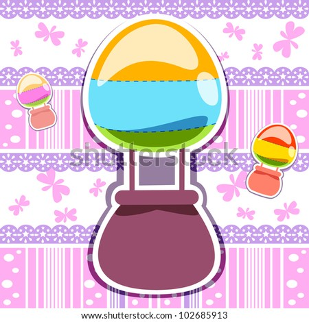 Purple pink abstract stripe patterns backgrounds with hot air balloon