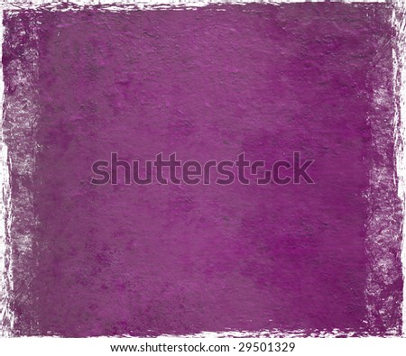 purple pink plaster with grunge frame background