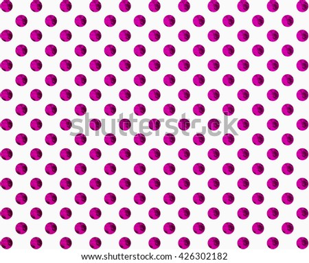 Purple polka dot 3d rendering