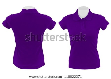 purple polo shirt on white background