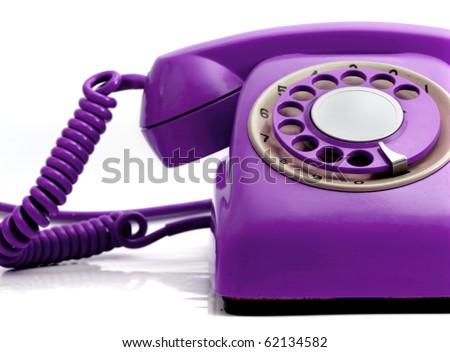 Retro Purple Phone Purple Retro Phone