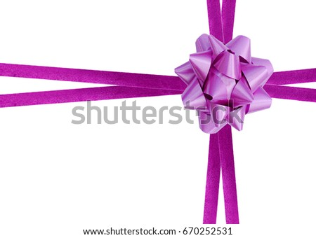 Purple ribbon over white pape  Foto stock ©