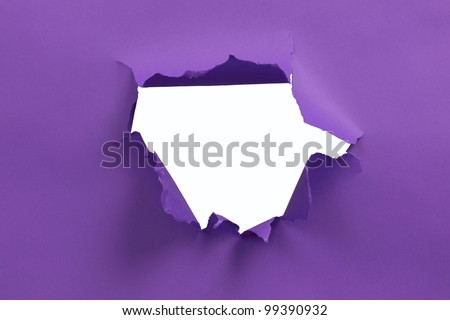 Purple ripped paper background