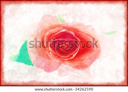 Purple rose in a retro style on a light background Stock photo ©