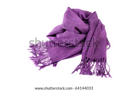 purple scarf - stock photo