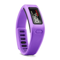 Purple Smart Tracker Watch Isolated on White Background. Sports Fitness Fitnessband with Heartrate Monitor Sensor. Modern Track Activity Accessories Wristband Watch. Wearable Technology Health