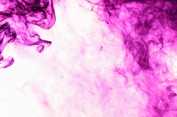 Purple smoke abstract on white background.