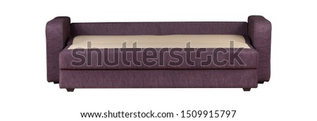 Purple sofa isolated on white