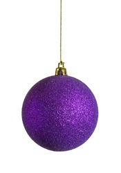 purple sparky christmas bauble