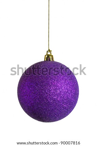 purple sparky christmas bauble