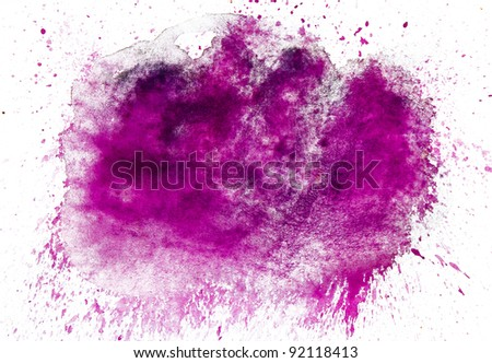 purple spot blotch watercolors isolated background