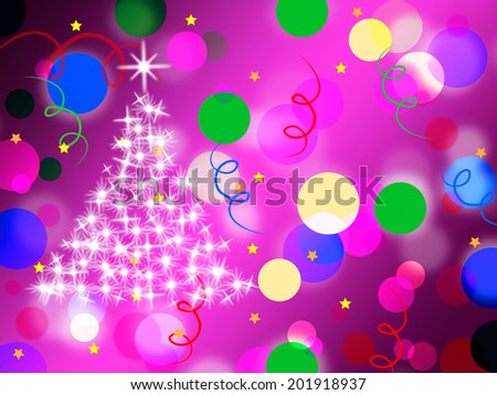 Purple Spots Background Meaning Dots And Sparkling Christmas Tree