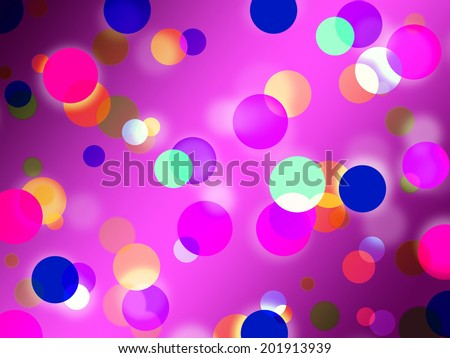 Purple Spots Background Meaning Glowing Dots And Round