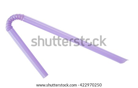 Purple straw on white background #422970250