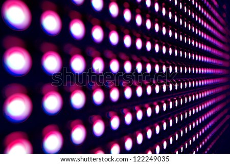 Purple stretch of LED lights
