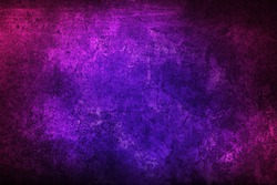 Purple texture for designer background. Grunge violet and pink texture. Colorful old dirty wall.