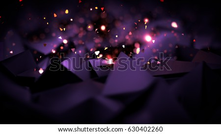 Purple, violet black background with glitter. 3d image, 3d rendering.