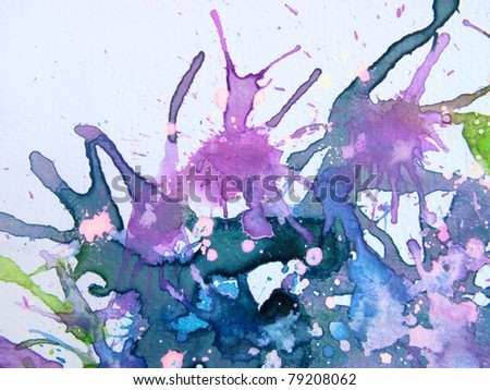 Purple Watercolor Background 4