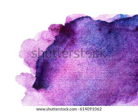 Purple watercolor background for textures and backgrounds