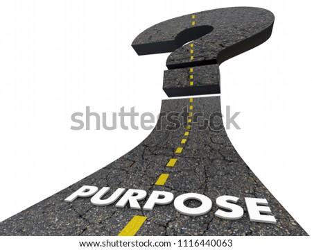Purpose Road Question Mark Uncertain Unsure 3d Render Illustration Stockfoto ©
