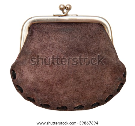 Purse isolated on a white background. The concept of savings