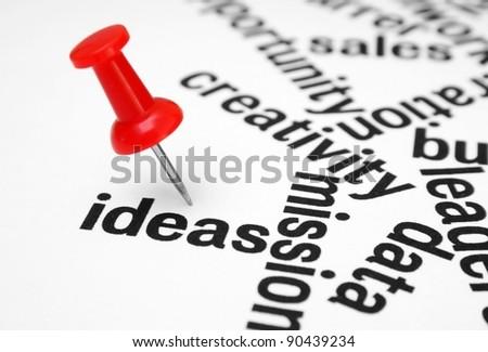 Push pin on idea