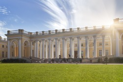 Pushkin, suburb of St. Petersburg.  Alexander Palace, 18th century.