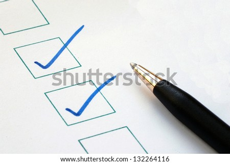 Put the check mark/tick in the boxes concepts of approval