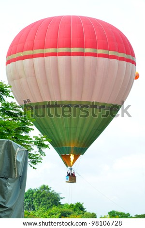 PUTRAJAYA, MALAYSIA-MAR 17:View of balloon at the 4th Putrajaya International Hot Air Balloon Fiesta on Mar 17, 2012 Putrajaya. The event held in Precinct 2, Putrajaya, Malaysia.