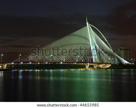 Putrajaya ( near Kuala Lumpur, Malaysia) bridge at night