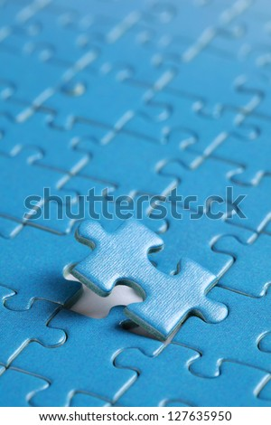Putting the last piece of puzzle in place