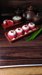 Putu Ayu Cake. Indonesian tradisional cake.