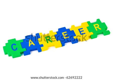 Puzzle Career isolated on white background