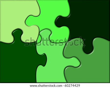 puzzle containing various tints of green